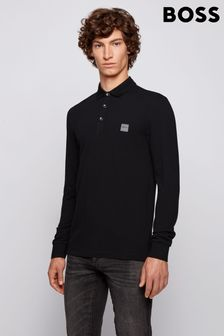 BOSS Passerby Long Sleeve Poloshirt