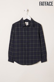 FatFace Blue Bexley Check Shirt