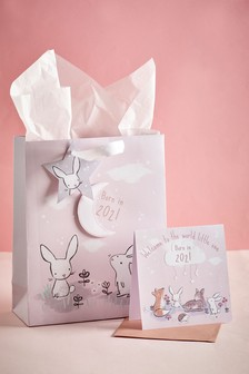 Born In Card and Gift Bag