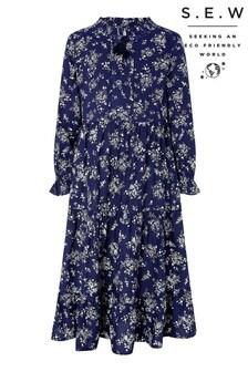 Monsoon Blue S.E.W Rose Rosetta Dress