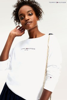 Tommy Hilfiger White Essential Logo Sweatshirt
