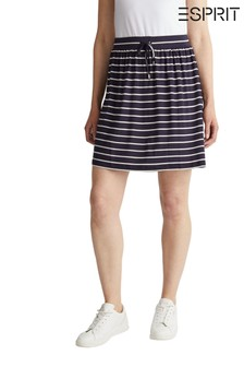 Esprit Blue Jersey Mini Skirt