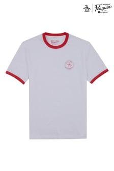 Original Penguin® White Stamp Logo Ringer T-Shirt