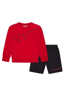 Emporio Armani Baby Boys Red Outfit