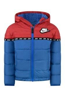 Boys Blue Royal Taping Colourblock Puffer Jacket