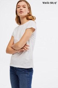 White Stuff White Rosie Embroidered Jersey T-Shirt