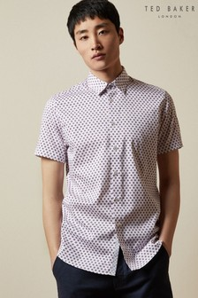 Ted Baker Poshor Short Sleeve Geo Shirt