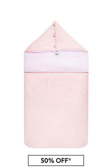 Boss Kidswear Baby Girls Pink Cotton Nest