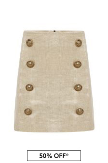 Balmain Girls Gold Skirt