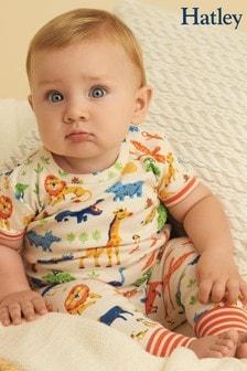 Hatley Wild Safari Organic Cotton Baby Short Sleeve Pyjama Set