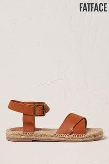 FatFace Tan Harper Jute Detail Sandals
