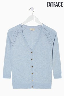 FatFace Blue Rose Cardigan