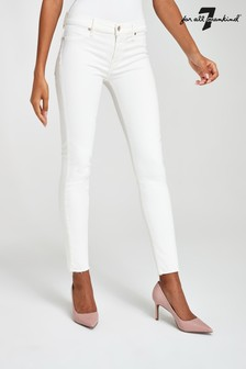 7 For All Mankind White Slim Jeans