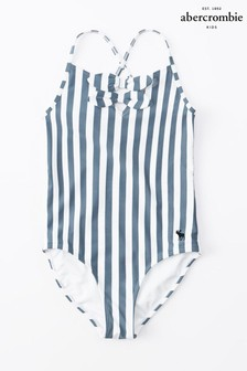 Abercrombie & Fitch Blue Stripe Swimsuit