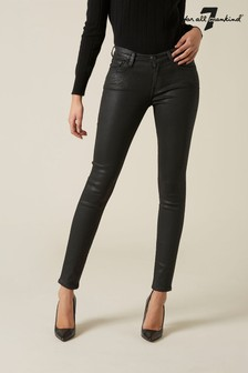 7 For All Mankind Black Slim Jeans