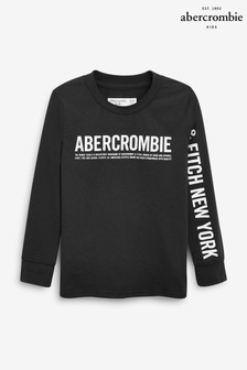 Abercrombie & Fitch Long Sleeve Logo T-Shirt