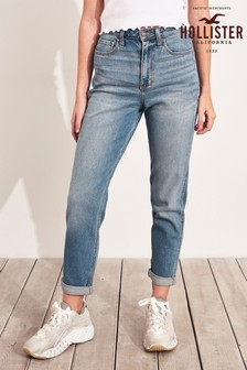 Hollister Mid Wash Mom Jeans