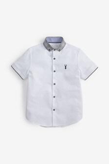 Short Sleeve Check Collar Shirt (3-16yrs)