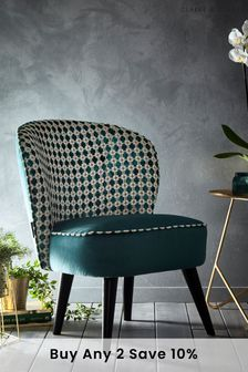Maui Kingfisher Ascot Chair By Clarke and Clarke