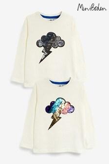 Boden Ivory Sequin T-Shirt