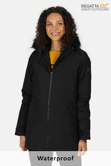 Regatta Black Myla Waterproof Jacket