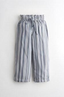 Hollister Blue Stripe Wide Leg Trousers