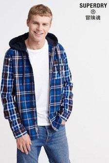 Superdry Denim Goods Hooded Shirt