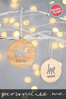 Personalised Dog Decoration by Oakdene Designs