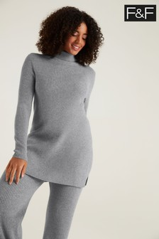 F&F Izzy Roll Neck Grey Jumper