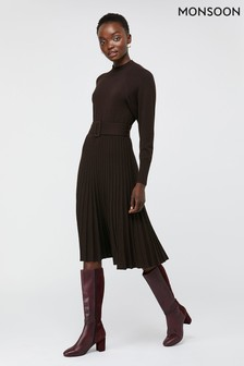 Monsoon Chocolate Phoebe Recycled Nylon Dress