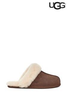 UGG® Espresso Brown Scuffette Slippers