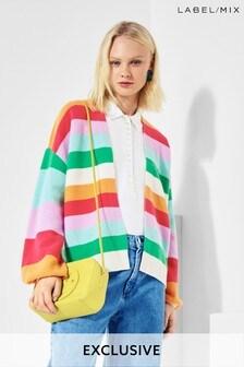 Next/Mix Pastel Stripe Cardigan