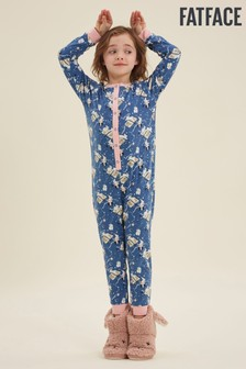 FatFace Blue Bunny Print Jersey All-In-One