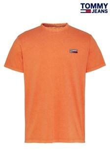 Tommy Jeans Orange Washed Logo T-Shirt