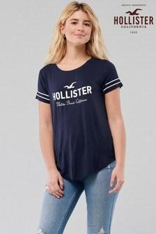 HollisterCore T-Shirt mit Print, Marineblau