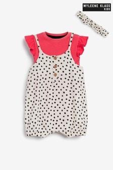 Myleene Klass Baby Spot 3 Piece Romper Set