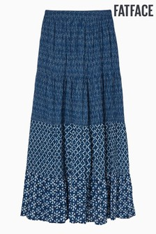 FatFace Blue Beverley Shibori Patch Maxi Skirt