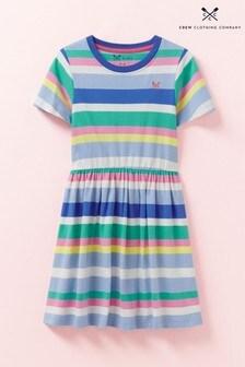 Crew Clothing Blue Tee Jersey Stripe Dress