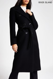 River Island Black Talia Trench Coat