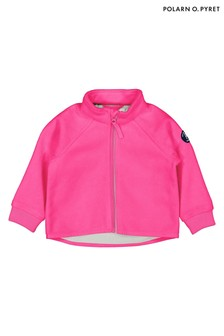 Polarn O. Pyret Pink Waterproof Recycled Polyester Fleece Jacket