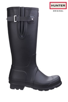 Hunter Black Original Side Adjustable Wellington Boots