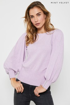 Mint Velvet Purple Lilac Scoop Neck Jumper