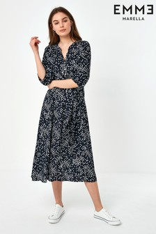Emme by Marella Navy Floral Print Zante Midi Dress
