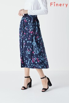 Finery Blue Albyn Tie Waist Skirt