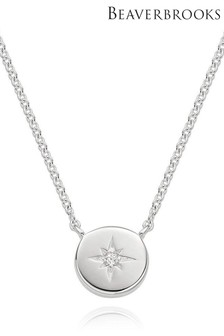Beaverbrooks Sterling Silver Starburst Necklace