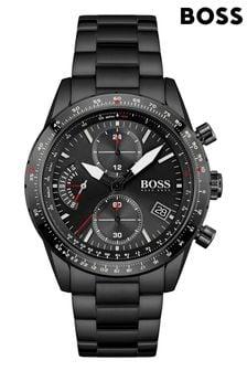 BOSS Pilot Edition Chrono IP Bracelet Watch