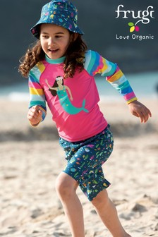 Frugi Oeko Tex Mermaid And Rainbow Rash Vest