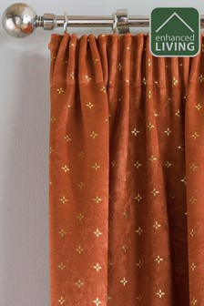 Enhanced Living Gemini Metallic And Velvet Pencil Pleat Curtains