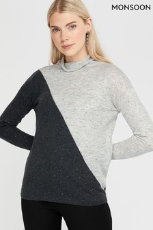 Monsoon Grey Heidi Heat Seal Jumper