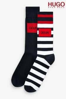 HUGO Stripe Socks Two Pack
